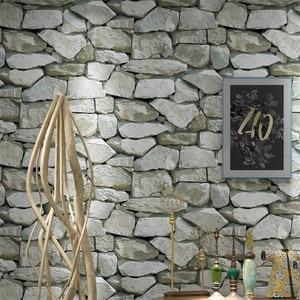 Image 2 - Wallpaper 3D Retro pvc vinyl wallpaper 3D Personality Stone Pattern Living Room Wall Decor Restaurant Waterproof 3D Wall papers