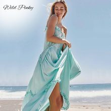 WildPinky Sexy Women Boho Spaghetti Strap Maxi Club Party Dress Bandage Long Dresses Summer Bridesmaids vestidos