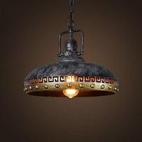 Ретро Открытый Подвесные Светильники бар Кухня Лофт Стиль висит Лампы для мотоциклов лампа Тенты висит освещения серый промышленные свети
