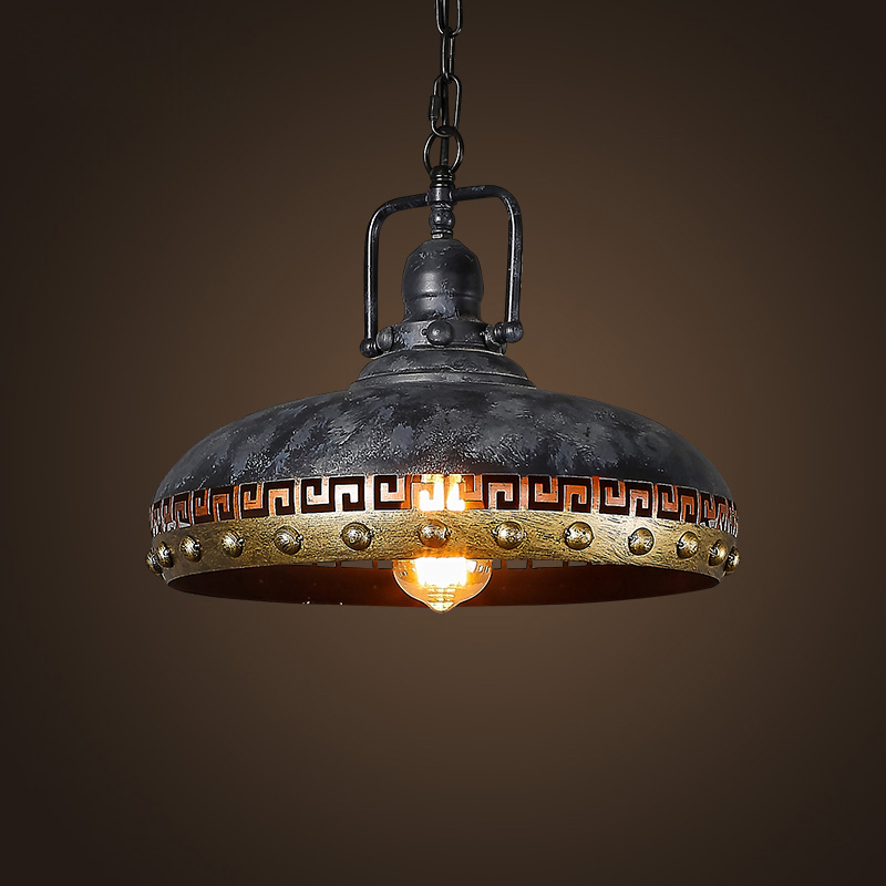 Retro Pendant Lights Bar Kitchen Loft Style Hanging Lamps Lamp Shade hanging lighting Grey industrial lighting Fixtures E27 D129 2 pcs loft retro light rusty color hanging lamp cafe bar pendant lights creative edison lamps industrial style pendant lighting