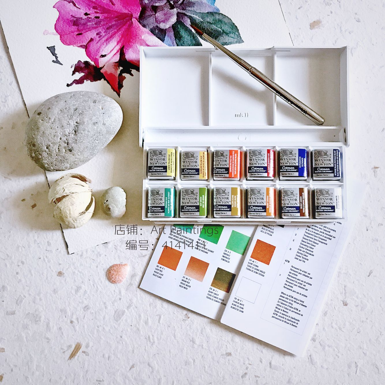 British Windsor Newton Solid Color Watercolor 12 Colors Set Of Watercolor Pen Beginners  Watercolours Watercolor Paint Sets