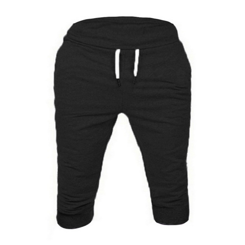MJARTORIA Baggy Shorts Trousers Joggers Slim-Fit Knee-Length Quick-Dry Cotton Mens Summer