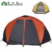Aluminum Poles Double Layer Ultralight 4 6 Person Waterproof 4 Season Camping Tent Large Gazebo Carpas De Camping