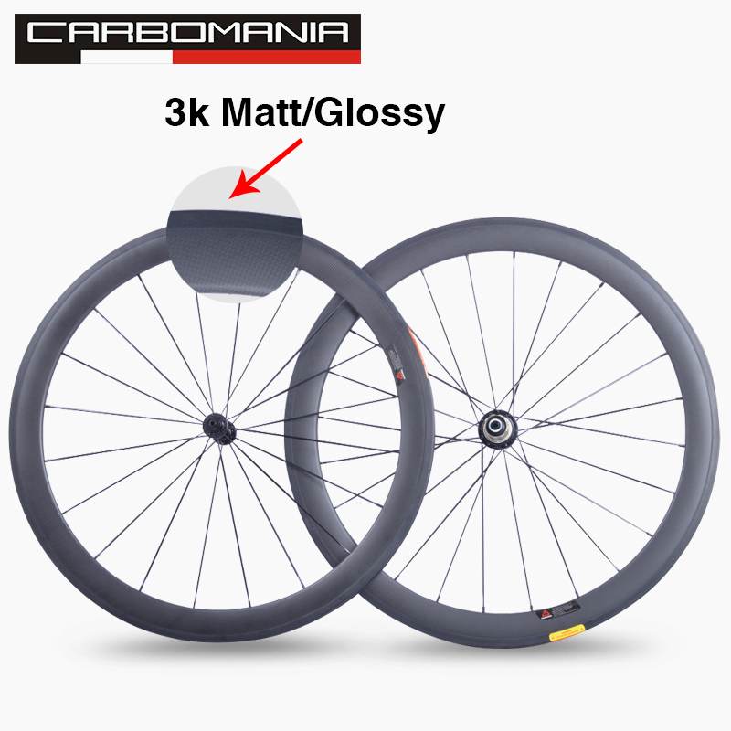 Super light 3K carbon wheels china road bike carbon wheelset 700c clincher 50mm tubulars Carbon Bicycle