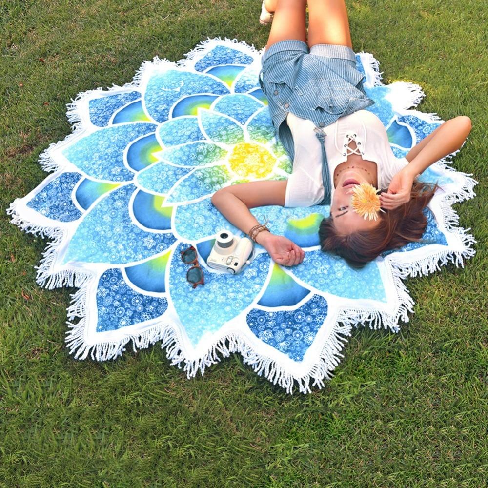 Nuevo Pareo Indio Mandalas Tapic Totem Lotus Colgante de pared Playa - Ropa deportiva y accesorios - foto 2