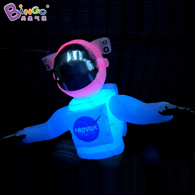 stage lighting inflatable pilot, hanging astronaut/spaceman balloon cartoon 2.5m for stage decoration-inflatable toy