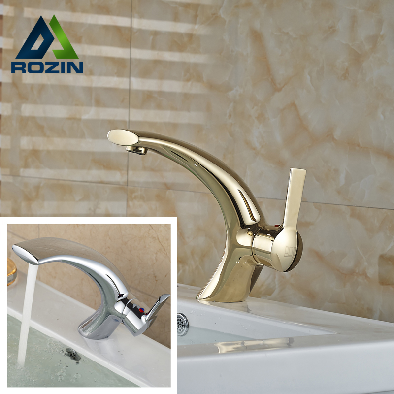 Unique 2016 New Brass Golden Basin Vanity Sink Faucet Chrome Brass One Hole Bathroom Mixer Tap + Hot and Cold Pipe dropshipping golden countertop basin faucet one handle single hole brass vanity sink mixer taps with hot and cold water