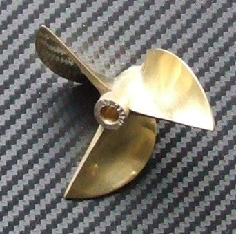 rc boat propeller 6717 bronze propeller, fit 6.35mm prop shaft
