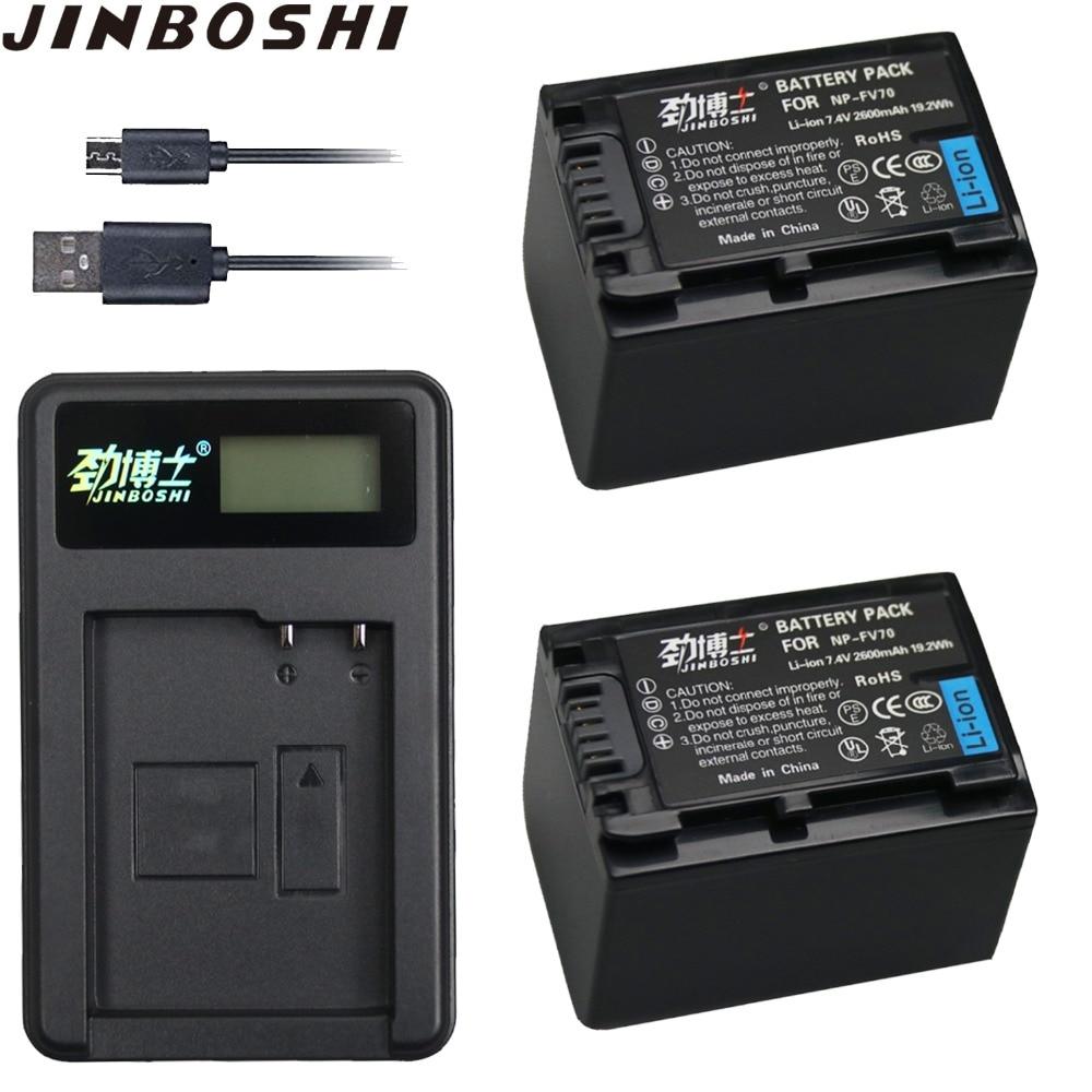 Rational 2 Pc 2600 Mah Np-fv70 Np Fv70 Npfv70 Li-ion Batterie & Lcd Usb Ladegerät Für Sony Np-fv50 Fv30 Hdr-cx230 Hdr-cx150e Hdr-cx170 Cx300 Ausreichende Versorgung Batterien