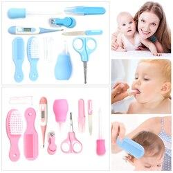 10 pcs Segurança nailcutter para recém-nascidos de cabelo prego lixa de unha ferramenta de medição pé Cuidados de Saúde Do Bebê Set Crianças Grooming Kit produtos do bebê