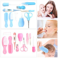 10Pcs Safety nailcutter for newborn hair nail foot measuring tool nail file Baby Health Care Set Kids Grooming Kit baby products