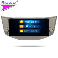 1 Din Android 8.1 Car Radio Octa Core For Toyota Harrier For Lexus RX300 RX330 RX350 RX400H GPS Navigation 2G+32G Autoradio