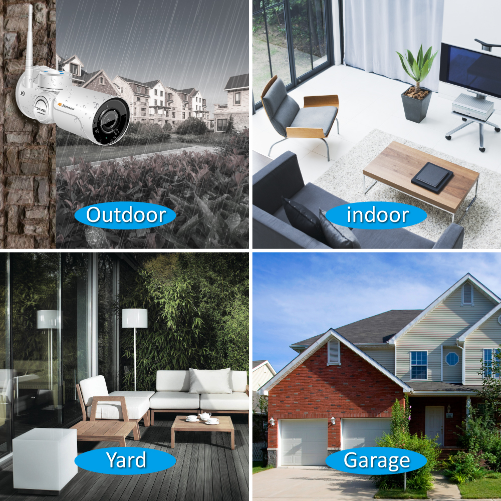 Image 5 - Jennov PTZ IP CCTV Camera Outdoor 1080P Surveillance Camera Outdoor Wireless Audio Record WIFI Security Cam 2MP HD P2P 4 x Zoom-in Surveillance Cameras from Security & Protection