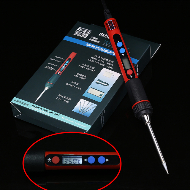 Portable Digital LCD USB Soldering Iron 5V 10W Ferro De Solda Adjustable Temperature Solder Iron Welding Tools