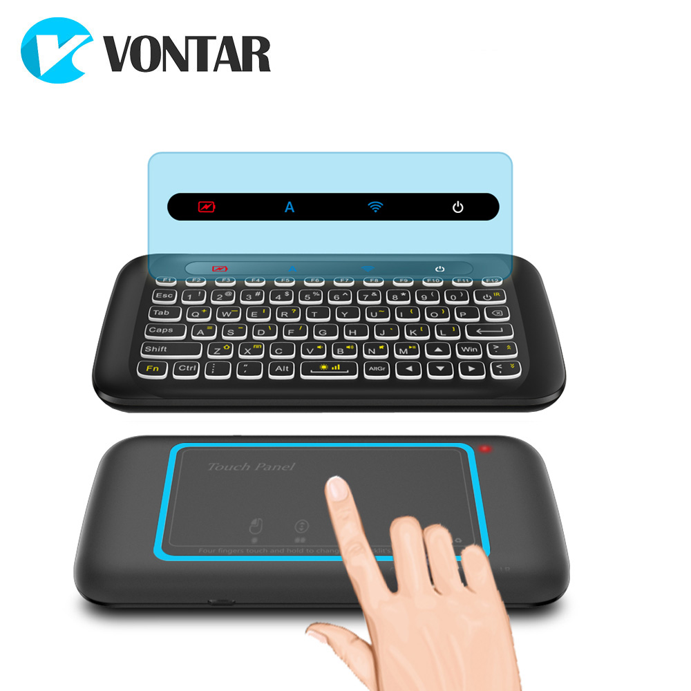 Original 2.4GHz Wireless Air Mouse H20 Keyboard With Backlight Touchpad Learning Function For Android TV Box