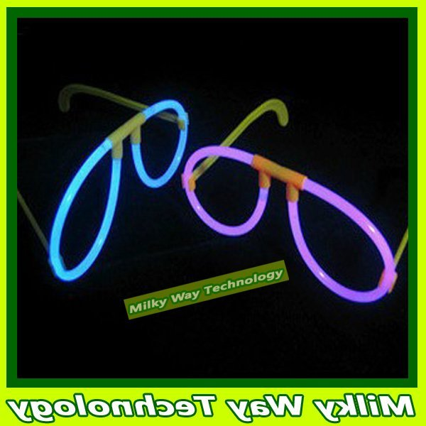 FREE SHIPPING HALLOWEEN props Glow glasses/glow in the dark spectacles 100pcs/lot#LX06376