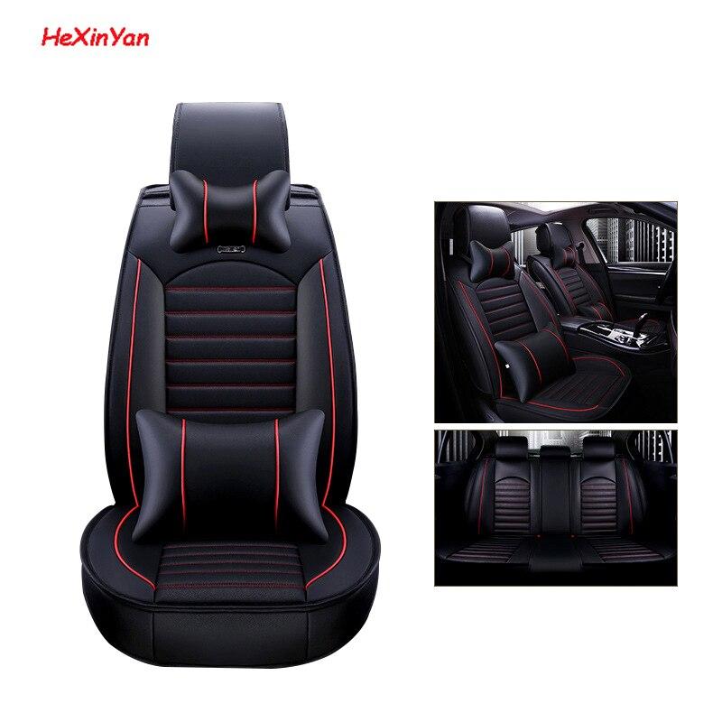 HeXinYan housses de siège auto universelles en cuir pour BMW tous modèle 520 525 320x3x5 f10 f20 x1 x6 x4 e36 e46 accessoires de coiffure auto