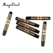 MagiDeal 6 Pieces Professional Pro 16 Grams Brass Barrels for Soft Tip Darts & Steel Tip Darts for Indoor Games Darts Accessory