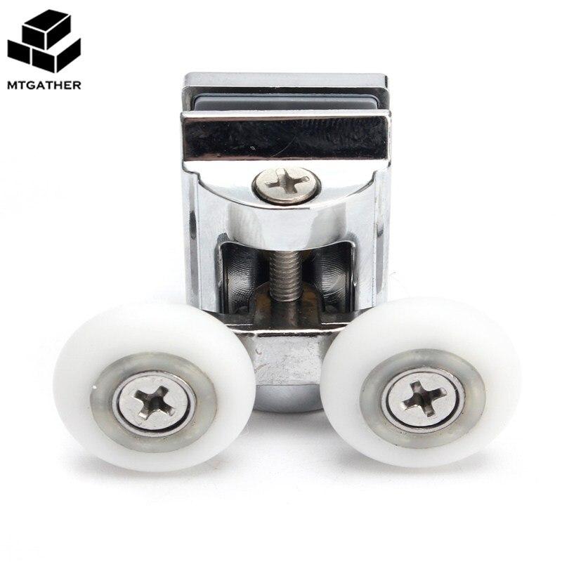 4pcs 23mm Double Top Bottom Shower Door Rollers Wheels Runners Kit