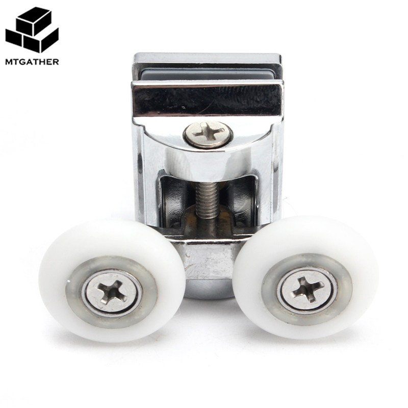 MTGATHER 2pcs/Set 23mm Twin Top Zinc Alloy Shower Door Rollers/Runners/Wheels Wheel Bott ...