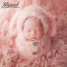 Baby Soft Sleeping Bag Hat Set Baby Girls Photo Shooting Clothes Newborn Photography Props Crochet Infant Outfits Photo Props