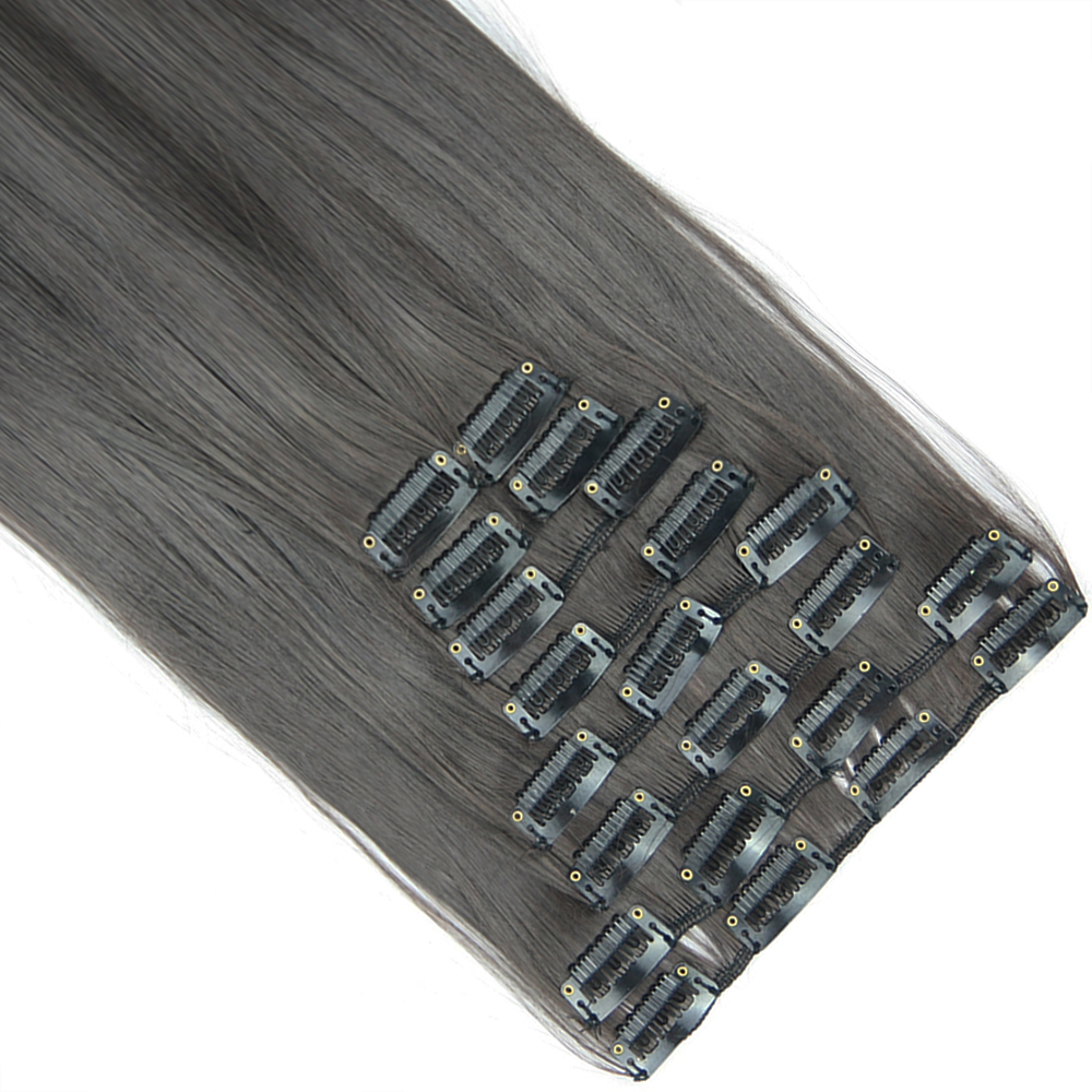 Soowee 10pcs set 22 Clips Straight Black Blonde Hairpiece Synthetic Hair Pad Clip In Hair Extension
