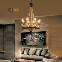 Светодиодный e27 индустриальный Лофт железо и конопляная веревка светодиодный светильник светодиодный свет. подвесные светильники. подвесн