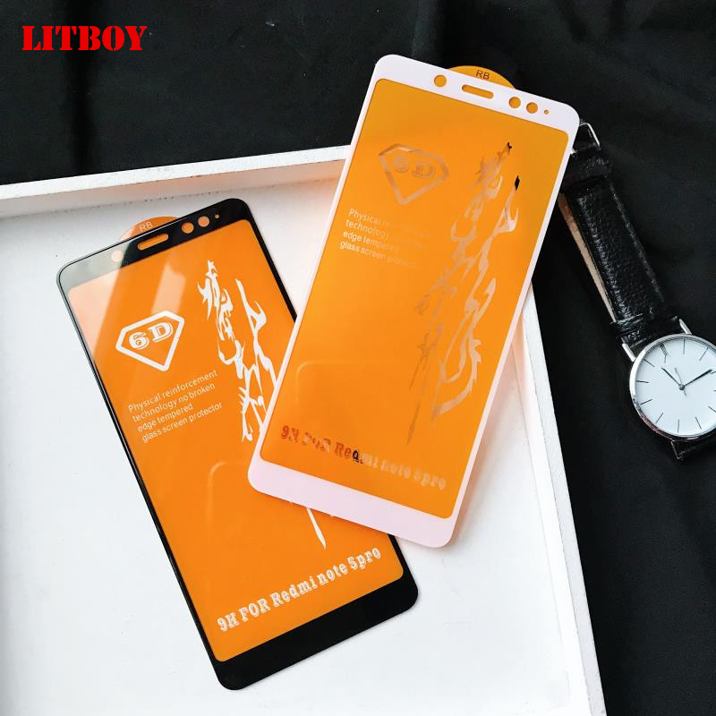 6D Full Cover Tempered Glass For Xiaomi Redmi Note 5A 5 S2 Screen Protector Film For