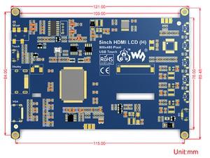 Image 5 - Waveshare 5 zoll HDMI LCD (H), 800x480, Kapazitiven Touchscreen LCD Tablet, HDMI interface, Unterstützung Raspberry Pi, BB Schwarz, Banana Pi