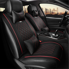 WLMWL Universal Leather Car seat cover for Cadillac all models ATS CT6 CTS SRX ATSL SLS XTS car styling auto accessories