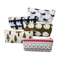 1pcs/lot Cartoon A Variety Of Animal Plants Plus Color Canvas Pencil Bags Five Selections