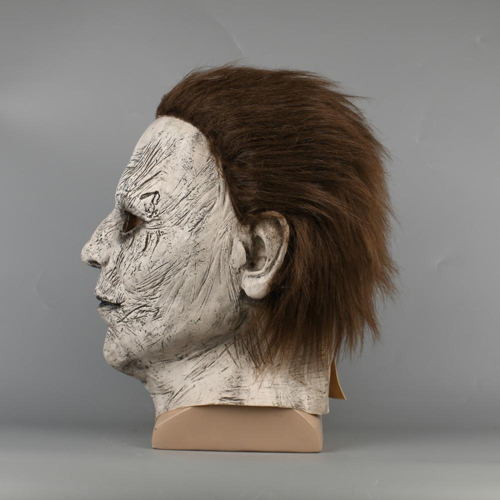 2018 Halloween Mask New Michael Myers Mask Scary Horror Halloween Handmade Mask (7)