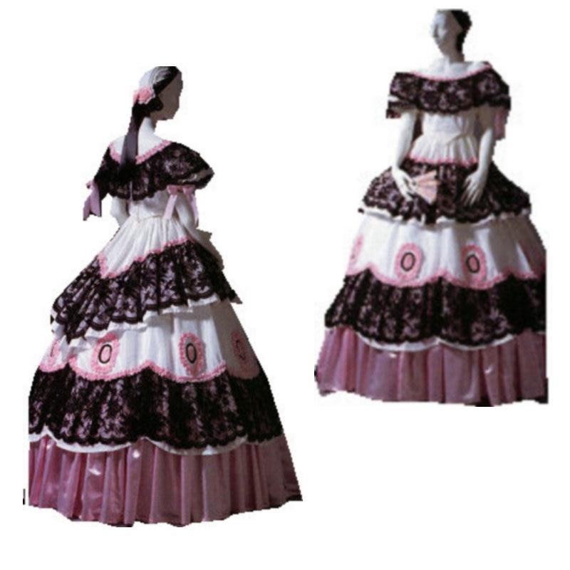 Historisk kundanpassad Alla storlekar Halloween Klänningar Gothic - Maskeradkläder och utklädnad