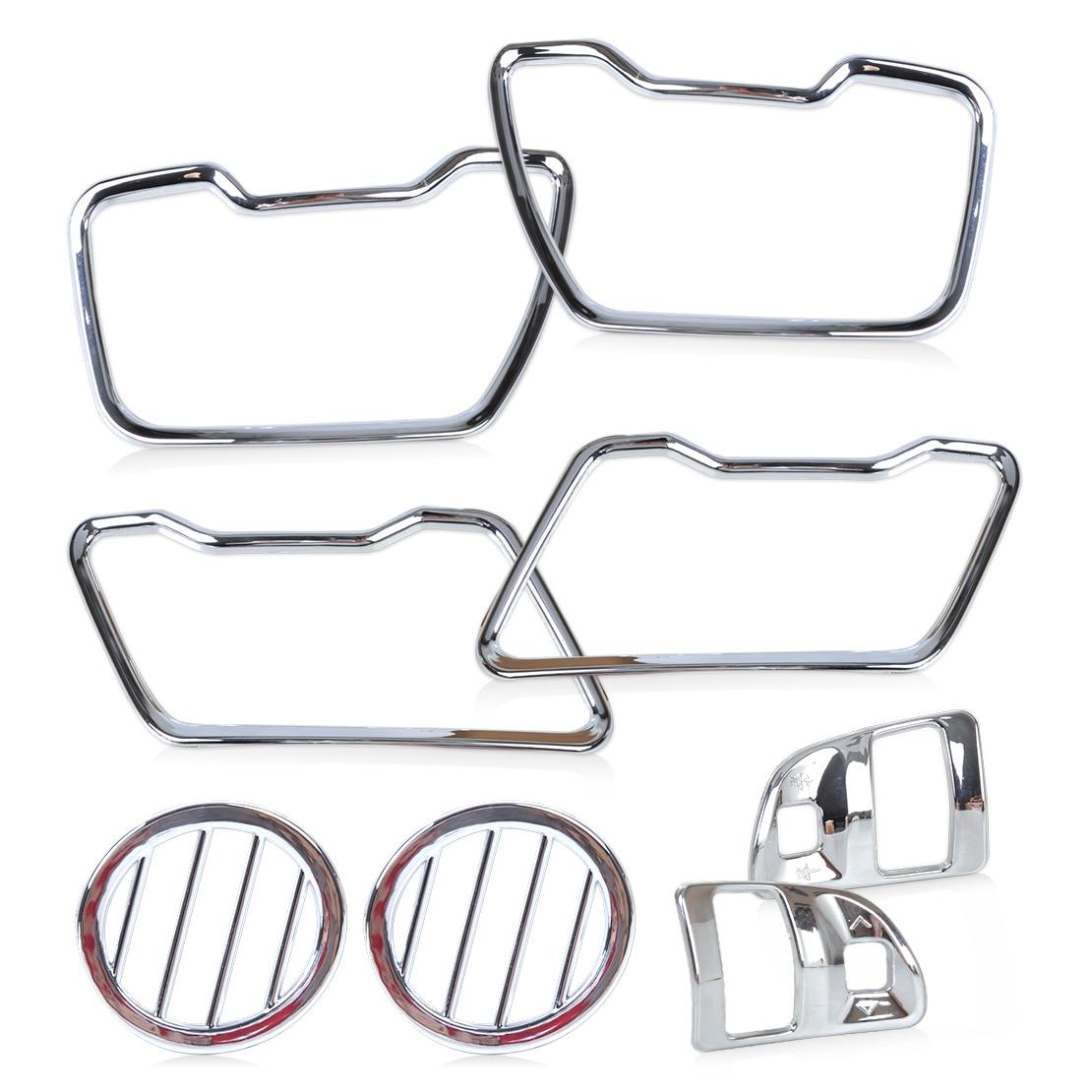 Aliexpress Buy Citall 8pcs Set Car Chrome Steering Wheel Air Vent Cover Trim Kit Left
