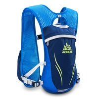 Sport Running Marathon Hydration Nylon Bag 5.5L Outdoor Fitness Running Bags Hiking Backpack Vest Marathon Cycling Backpack