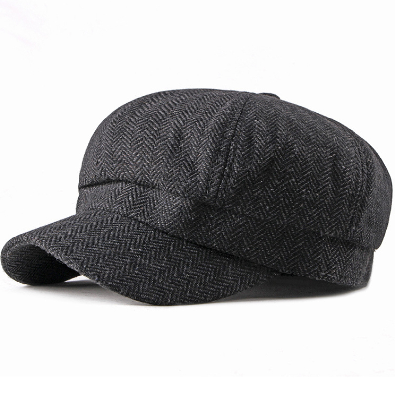 f4db4c31 HT2201 Spring Autumn Men Cap Vintage Retro Duckbill Newsboy Cap Artist  Painter Octagonal Cap Male Female