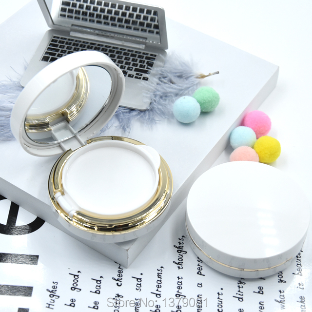 5/20/pcs Empty White bb/cc Cream Container, High Class Air Cushion Foundation Box, DIY BB/CC Cream Case,Makeup Tool gold and silver forever love steel couple ring for men 8 size