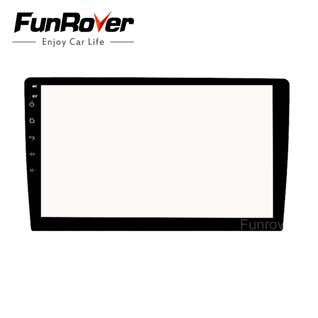Funrover 9 inch Glass Screen Protector Film for Indash 2 DIN Car DVD player GPS radio stereo multimedia navigation system