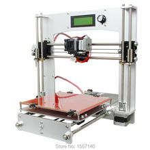 10 PCS Full Aluminum i3 3D Printer DIY KIT MK8 extruder 200 x 200 x 180mm Print 5 Types 3D Filament LCD panel