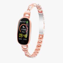 F18 Women Smart Bracelet Female Physiological Cycle Heart rate Fitness Tracker girl gift