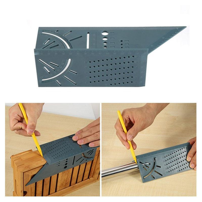 3D Angle Measuring Ruler Multi-function Ruler 45 Degrees 90 Degrees