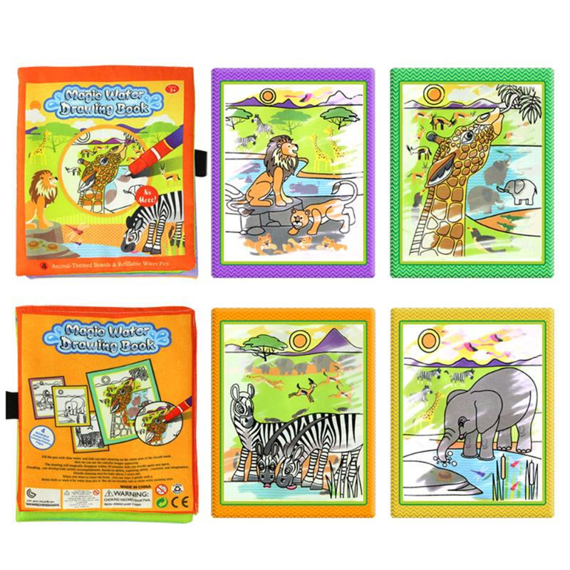 Barn Dyr Maleri Magic Vann Tegning Bok med 2 Vann Pen Barn Doodle - Læring og utdanning - Bilde 3