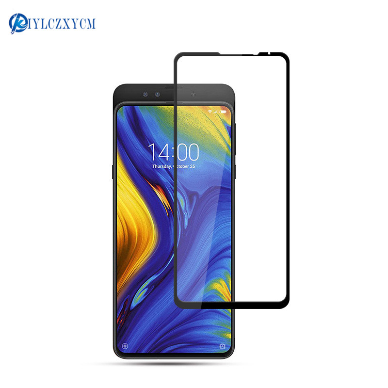 KIYLCZXYCM For Xiaomi Mix 3 9H Hard 2.5D Arc Edge Full Screen Protector Tempered Glass Film For Mi mix3 protection Film 10 pcs