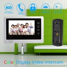 (1 Set)Touch panel 7 inch Monitor Home Improvement Video Door Phone Home Security Digital Doorbell Door Access Control Intercom