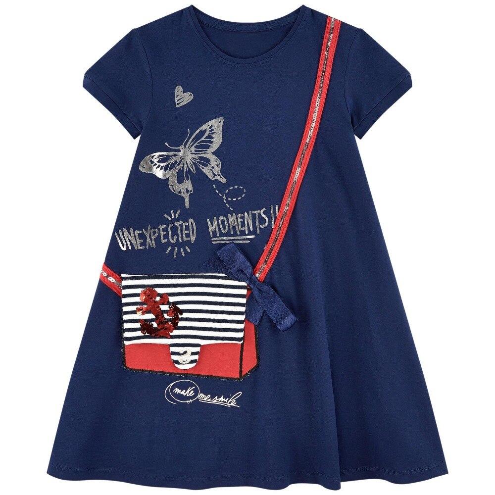 Bébé filles robes d'été Robe Enfant princesse Robe Costumes pour enfants vêtements arc-en-ciel imprimer 100% coton filles Jersey vêtements
