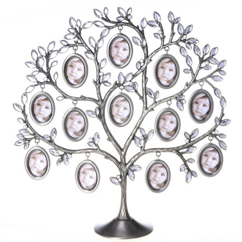 30*30cm Family Tree Hanging Photo Picture 12 Frame Holder Table Top ...