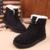 Botas de invierno Botas de Tobillo de Mujer Zapatos de Invierno Cálido Mujeres Botas de Encaje Hasta Las Señoras Zapatos Mujer Botas Femininas Negro Rojo Rosa