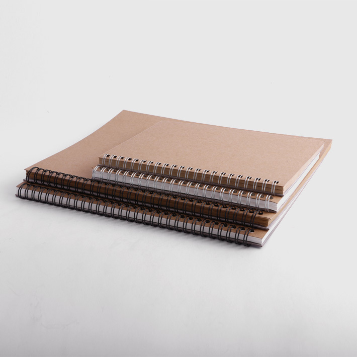 KRAFT Spiral Binding JOURNAL Sketch PAD Kraft Cover