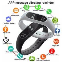 Купить с кэшбэком M2 Smart Bracelet Waterproof Heart Rate Monitor Fitness Sleep Tracker Sport Band for Android IOS Bluetooth Pedometer Smart Watch