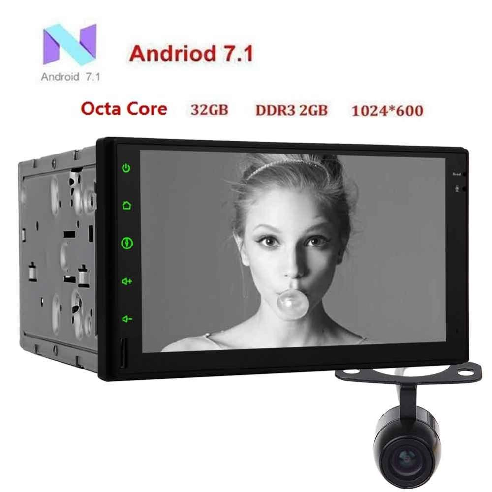 Android 7 1 2 DIN 7 inch capacitor touch screen car audio no DVD player GPS
